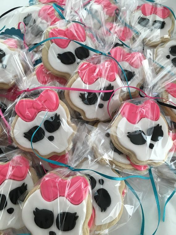Monster High inspired Sugar Cookies by CandySimply on Etsy