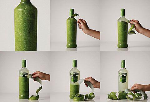 Smirnoff Bottle Peelable - Caipiroska Cocktails