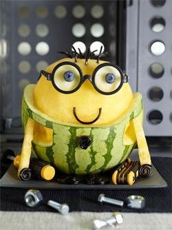 Fruit Carving - Cute Minion Watermelon Carving tutorial - #watermelon  #fruitcarving #tutorial