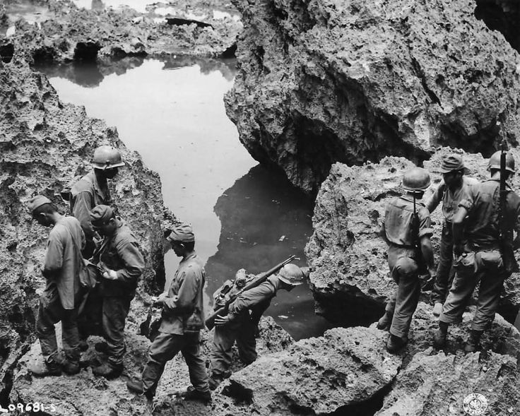 7th Infantry Division Troops Mopping Up on Okinawa