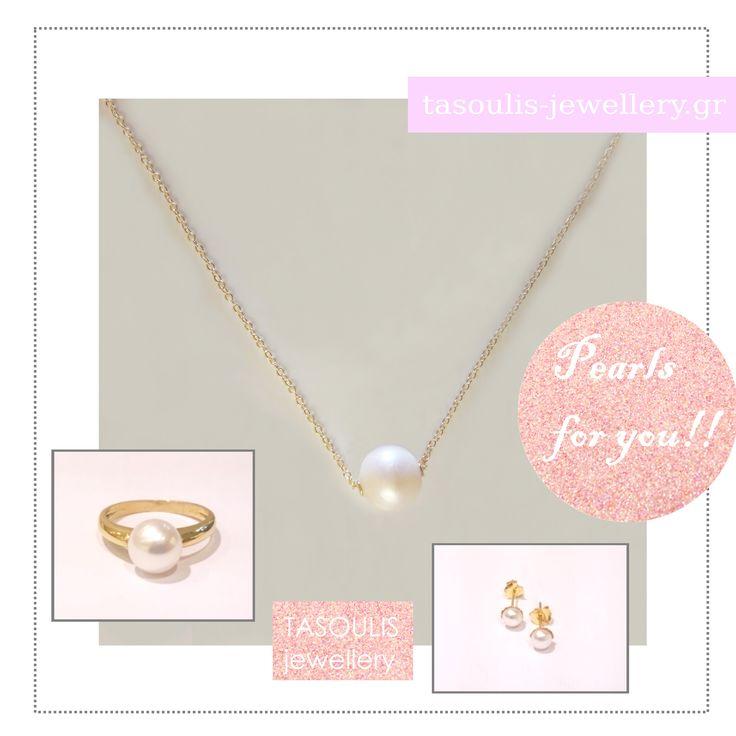 Εντυπωσιάστε.. με πέρλες!!!  #pearls #gold #ring #necklace #earrings #beauty #fashion #glamourous #luxury #jewellery #tasoulis_jewellery