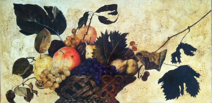copia canestra di frutta Caravaggio. Olio su tela #cristianabrondi
