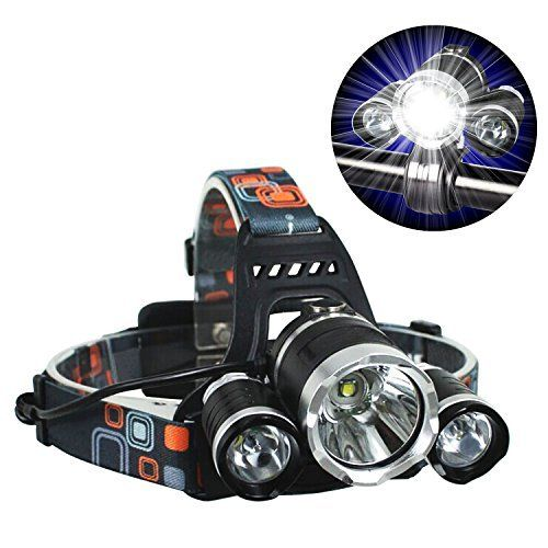 Best CREE LED Headlamp Flash Light - Waterproof Super Bright Head Flashlight & RED Lights Adjustable for Camping Reading Hiking Running Fishing Hunting Cycling - Brightest Focused Work Lamp Headlight