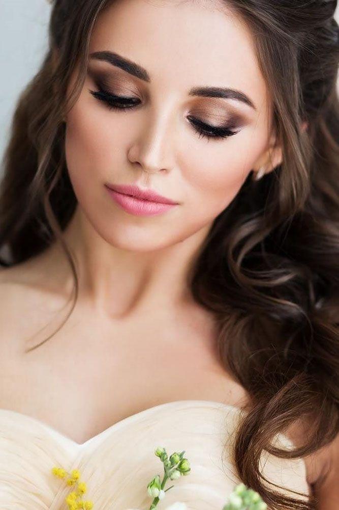 36 idées de maquillage de mariage lumineuses pour les brunes   – Make-up Anleit…