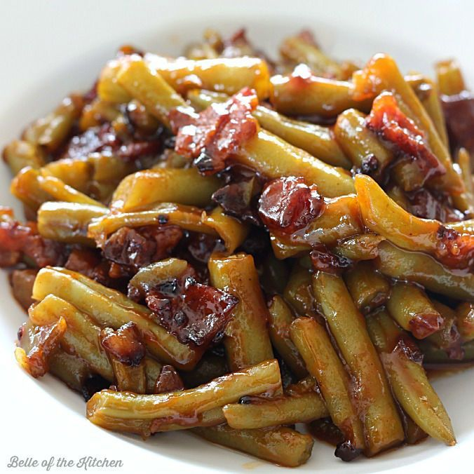 ... green beans on Pinterest | Bacon, Texas roadhouse and Garlic green