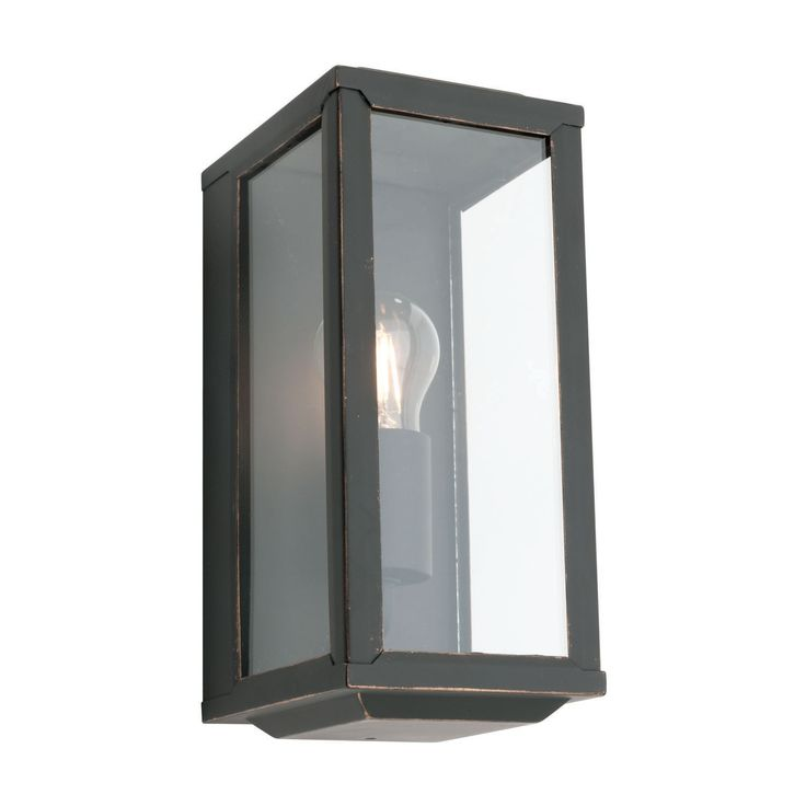 Range 1lt Wall Light   IP Ratings IP44   Glass Colours Clear   Metal Colours Bronze   Globe 60Watt E.S. (Not Included)   Dimensions Height 278mm Width 120mm Projection 145mm Welcome to the Online Lighting web store. Our aim is to be th
