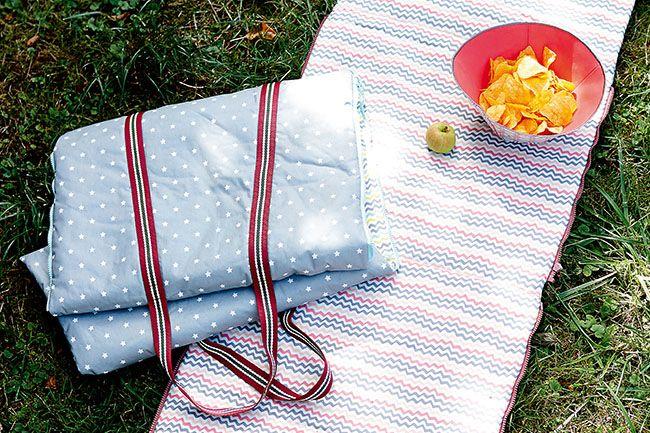 Picknickdecke nähen 2