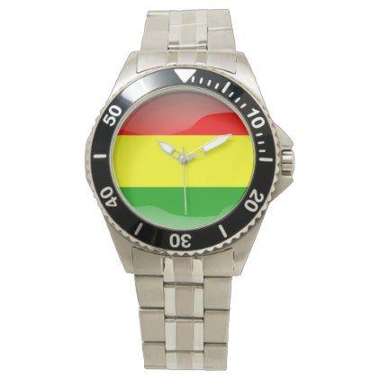 Flag of Bolivia Wristwatch - accessories accessory gift idea stylish unique custom