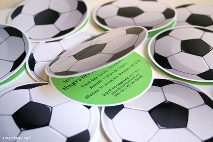 Invitacion de cumpleaños de futbol