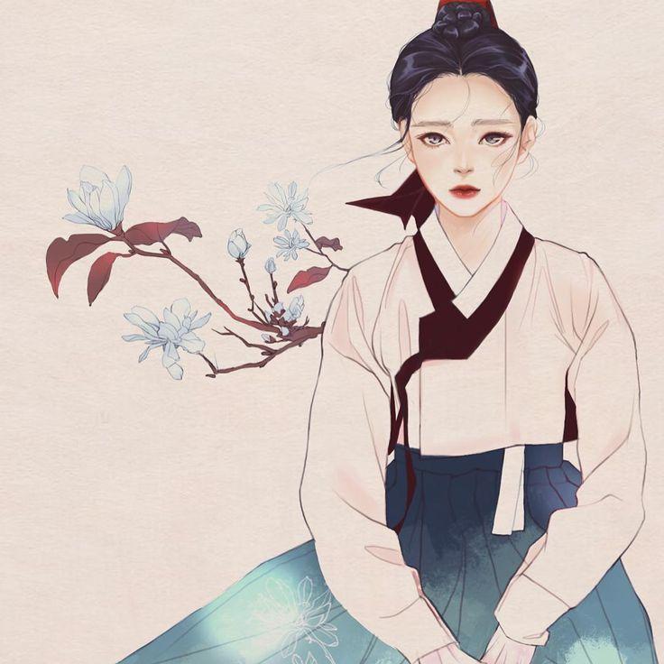 #그림 #한복 #궁녀 #한복그림 #일러스트 #한복일러스트