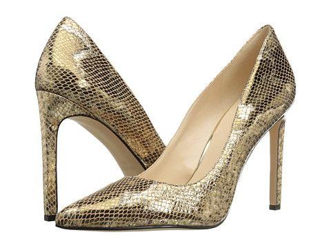 Pantofi de ocazie aurii imitatie piele croco