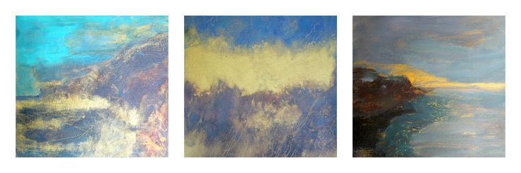 Three abstract paintings entered in BSG SmallWorks 2017