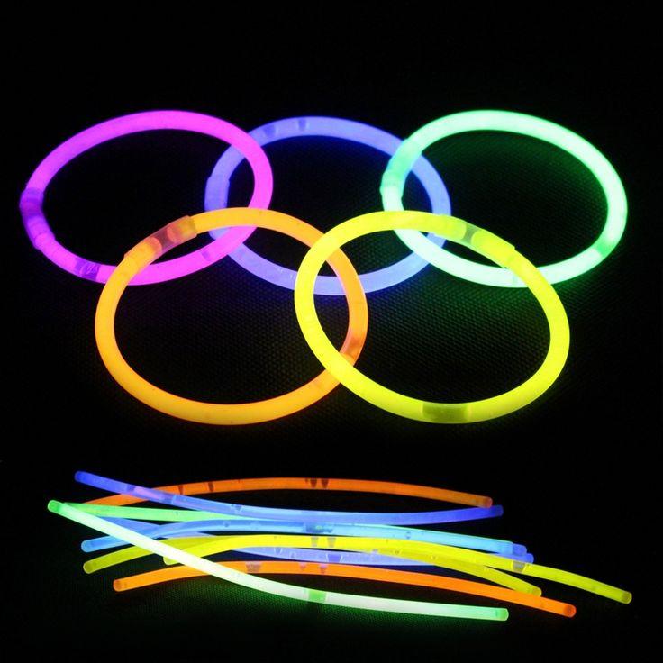 100Pcs/Lot Multi Color Fun Fluorescence luminous Glow Stick Bracelets Necklaces Party Event Light Xmas Festivities Ceremony Toys