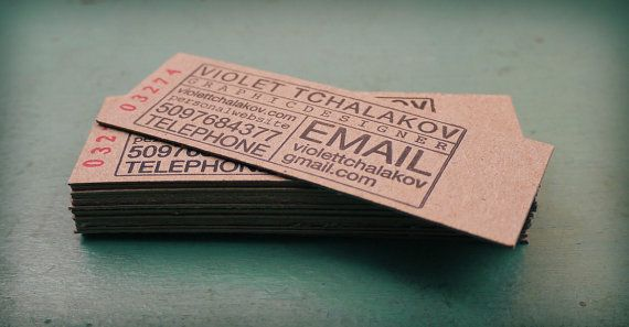 Print & Grain is full service graphic design and letterpress studio: Ticket Stubs, Creative Business Cards, Cards Design, Letterpresses Cards, Cards Stockings, Idea, Biz Cards, Graphics Design, Letterpresses Business Cards