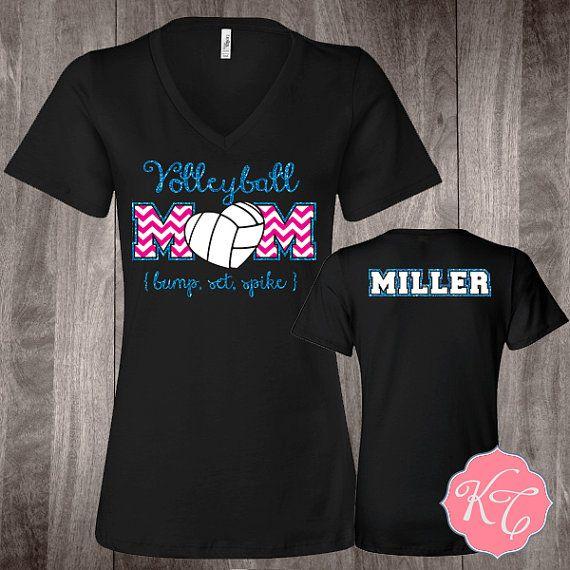 Personalized volleyball Mom Custom glitter Shirt