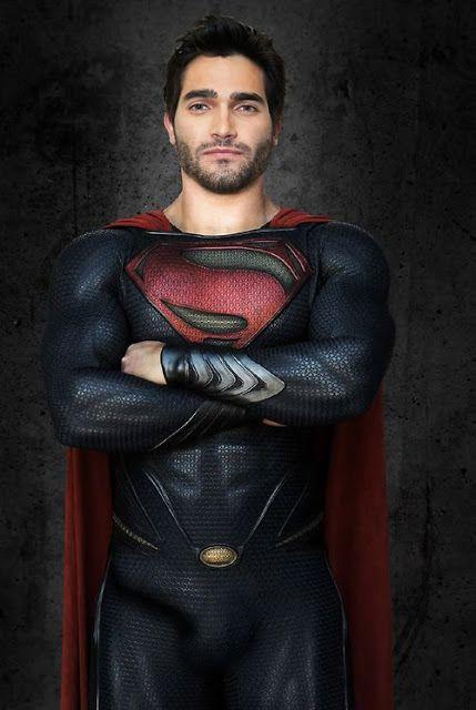 Tyler Hoechlin as Superman movie suit