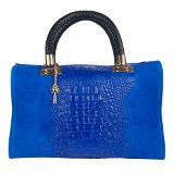 Nadine bluette croc embossed Handbag Made in Italy  online Now  Free Shipping within Australia