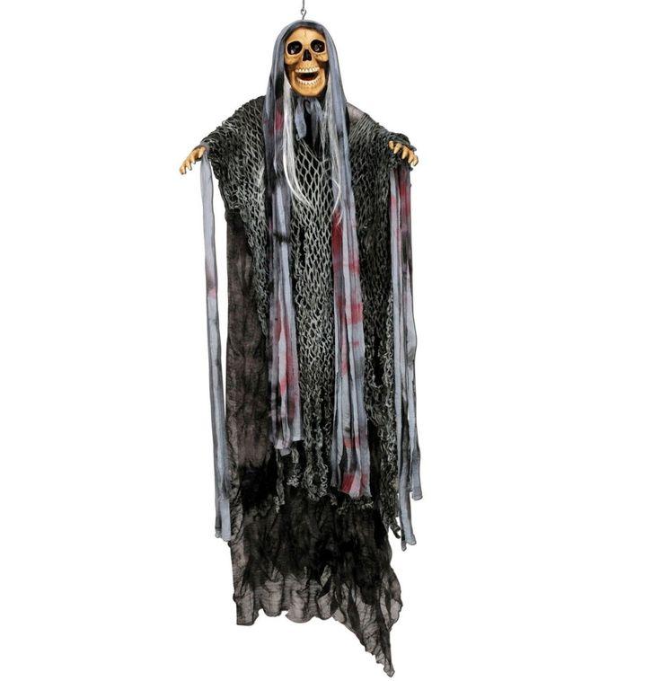 Screaming & Spinning Hanging Skeleton - 147cm Tall - AZ PARTY