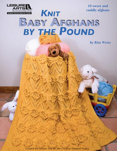 This inspiring #knitting book features 10 sweet and cuddly afghans for babies.