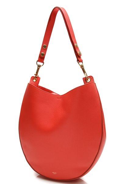 celine bag price uk - Celine Vermilion Supple Calfskin Leather Medium Hobo Bag | Hobo ...