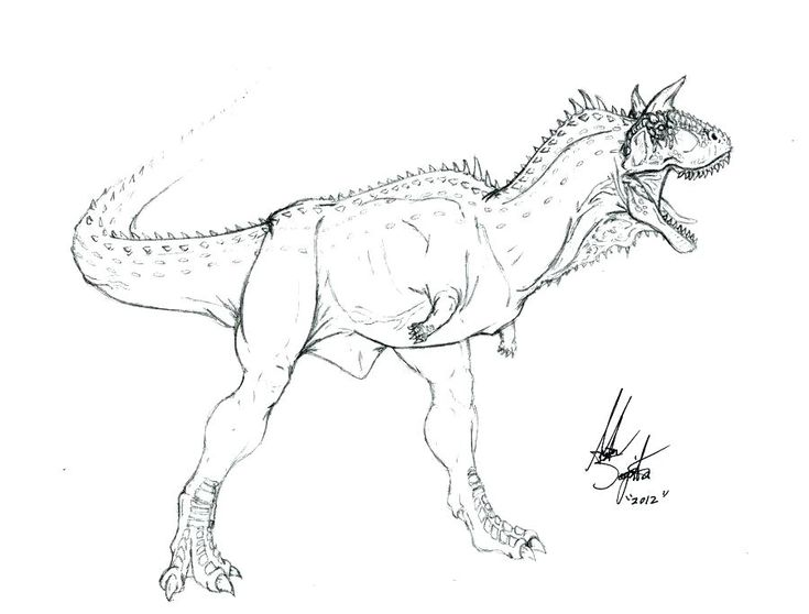 Carnotaurus coloring page Carnotaurs rock