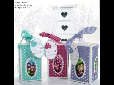 ▶ Stampin' Up! UK Easter Window Treat Boxes - YouTube