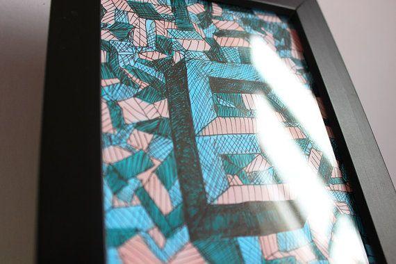 E écaillé Cadre décoration design encre typographie par Typeforce sur Etsy https://www.etsy.com/shop/typeforce