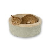 """Found it at Wayfair - 16"""" Heated Cat Bed in Sage"""