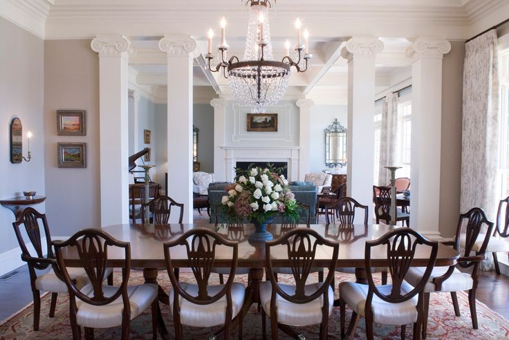 Duncan Phyfe End Tables Traditional Dining Room with Southern Dining by Linn Gresham Haute Decor in United States