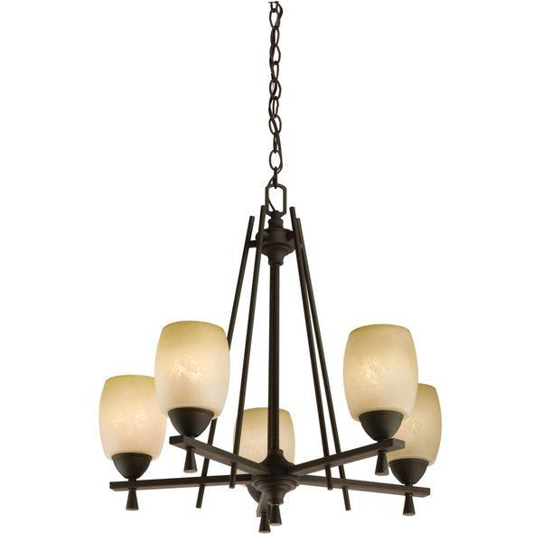 Lithonia Lighting 'Ferros' 5-light Antique Bronze Chandelier - Overstock™ Shopping - Great Deals on Lithonia Lighting Chandeliers & Pendants