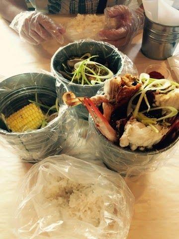 Sea Food in a Bucket #MyDubai #MedioOriente #Dubai #viviendoenDubai K.rolling