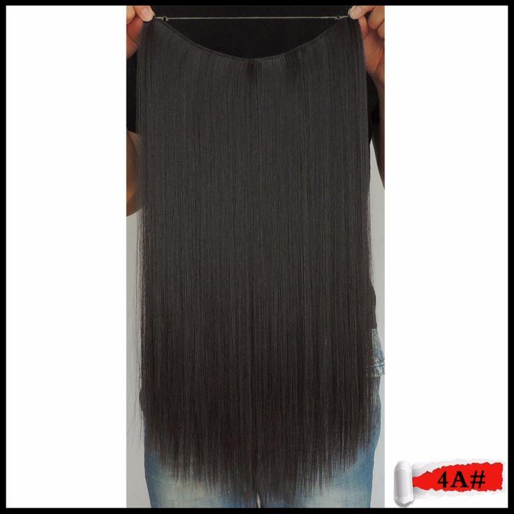 50g Synthetische Weven 20 inches Flip op Haarverlenging Rechte Halo Haarstukje Vrouwen Tikkende Kapsel Mage Bruin 4a kleur