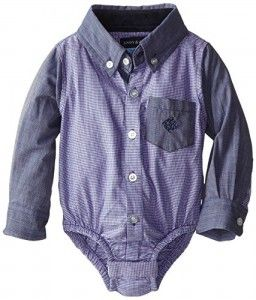 Andy-Evan-Baby-Boys-Newborn-Blue-Houndstooth-and-Chambray-Shirt