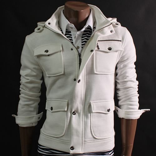 """Men's """"Snaps"""" Removable Hood 4 Pocket Jacket"""
