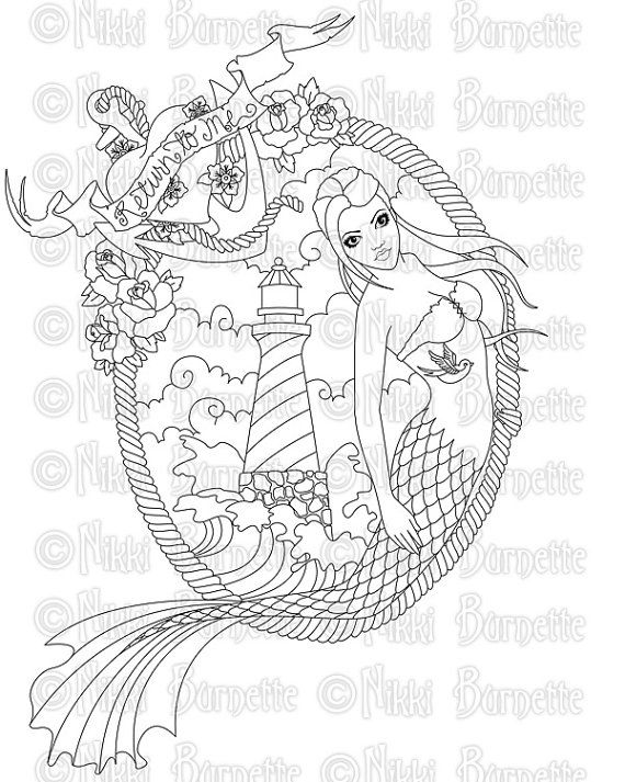 10  images about mermaid coloring sheets on pinterest