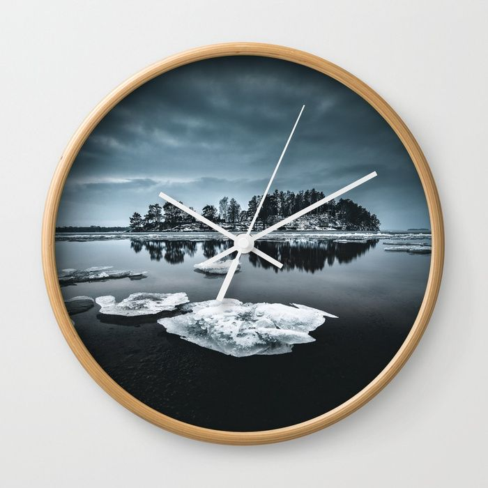 Only pieces left Wall Clock by HappyMelvin. #naturephotography #winter #ice #fineart #photography #clock #homedecor