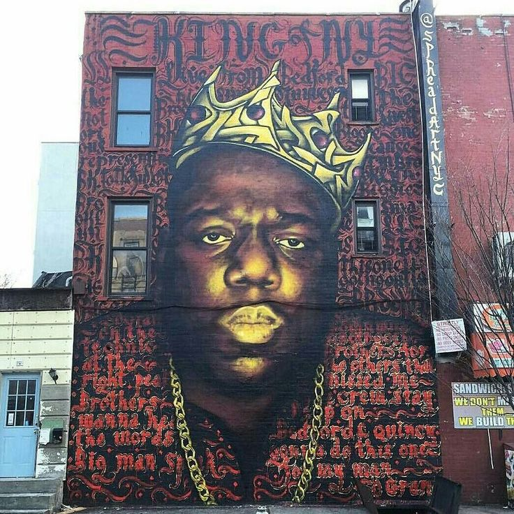 Perfect mural in brooklyn king of ny hiphopallstar for Biggie smalls mural brooklyn