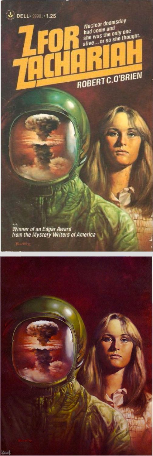 BORIS VALLEJO - Z for Zachariah by Robert C. O'Brien - 1977 Dell Books - cover by isfdb