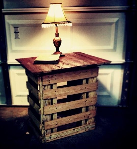How to build an end table out of pallets woodworking for Making things out of pallets