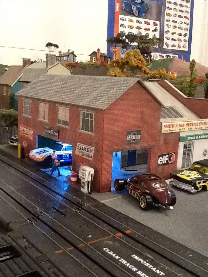 Vw at pit lane garage.