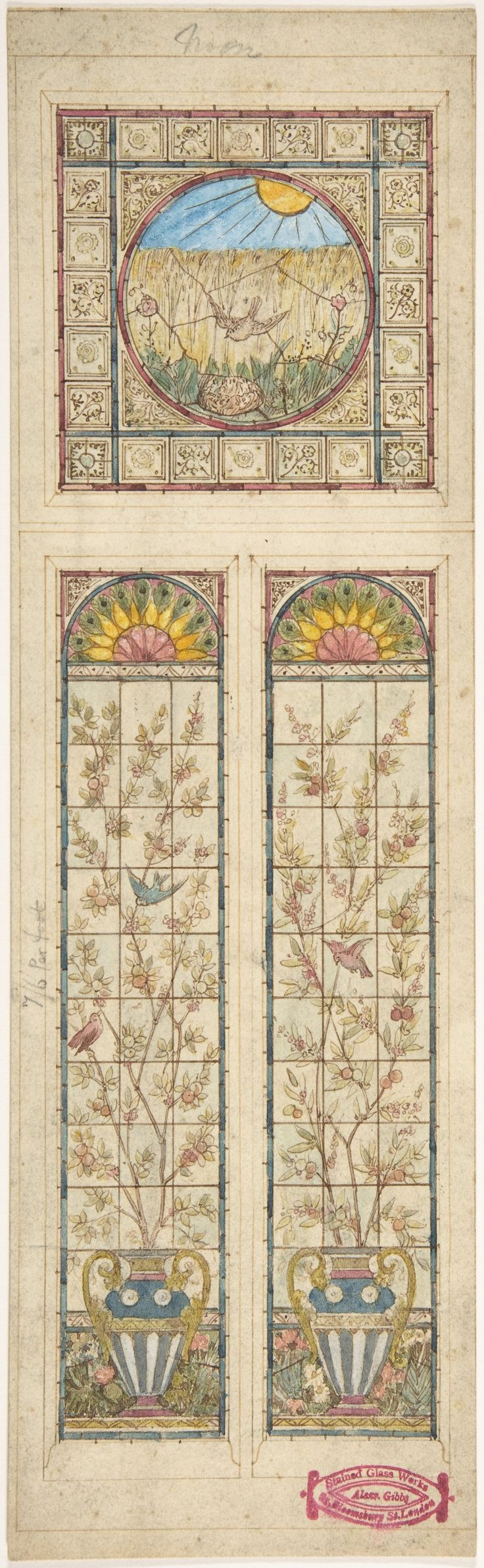 Alexander Gibbs | Design for a stained glass window | The Met