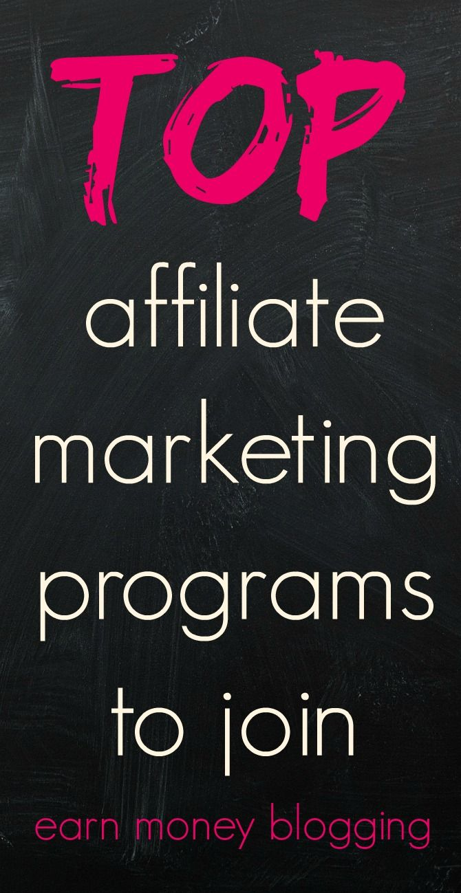 Top affiliate marketing programs to join