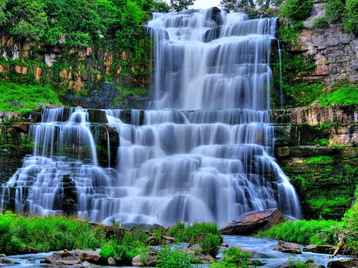 waterfall pictures | ... Waterfall wallpaper | Download Nature Hidden Waterfall Background