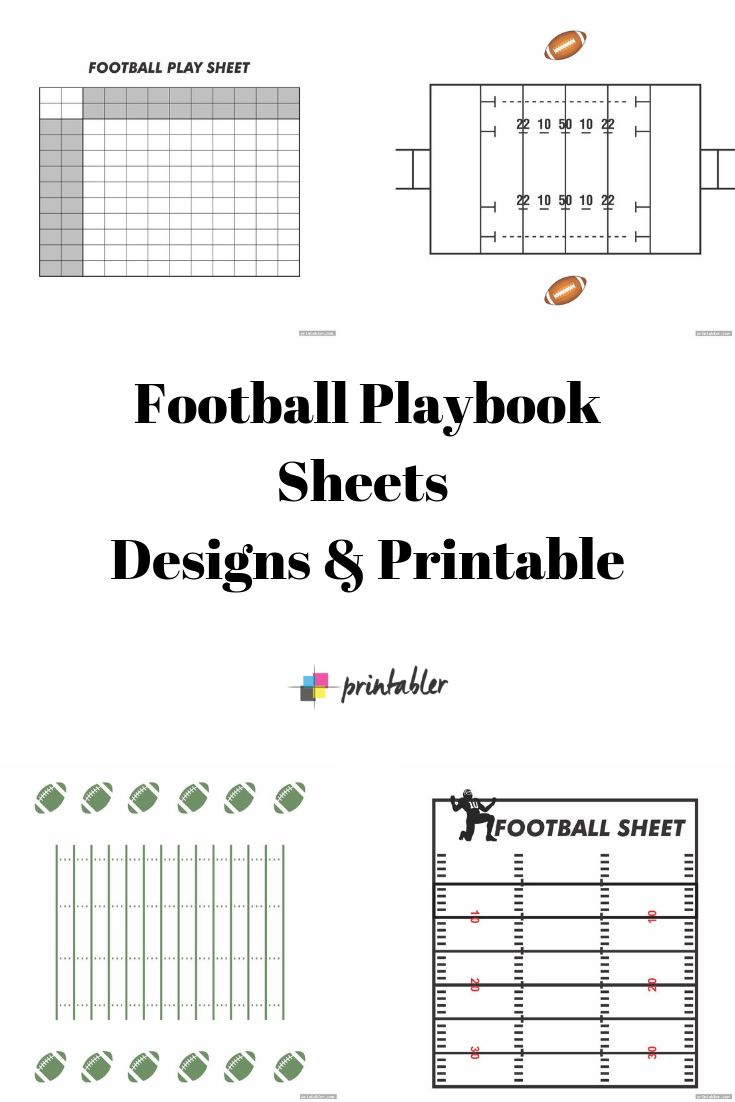 Blank Football Playbook Sheets Designs & Printable