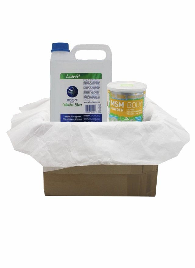 Cancer Protocol Package – MSM / Colloidal Silver  From: R594,90