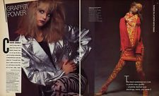 1984 Bazaar Christie Brinkley 4-pg magazine editorial