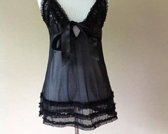 French Maid Babydoll Negligee Lingerie