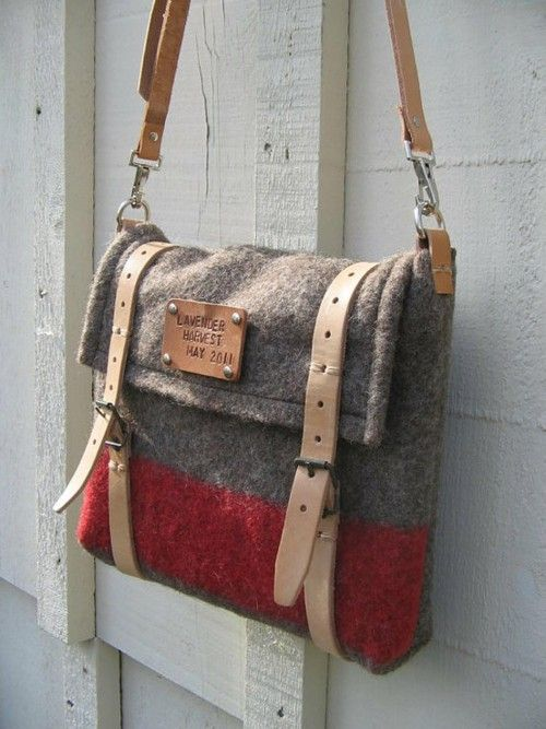 use old blanket and make a bag. Must make these!