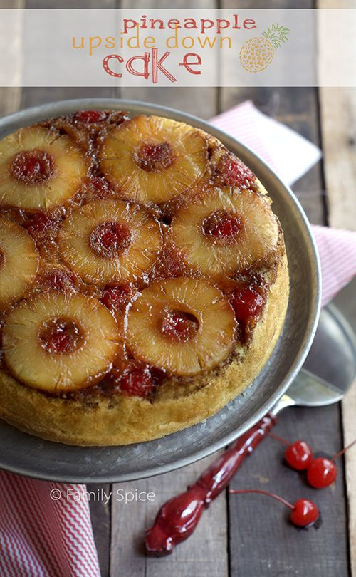 Perfect for Camping: Cast Iron Dutch Oven Pineapple Upside Down Cake _ Move over s'mores! Here's a great dessert for your next camping trip! Recipe by Laura Bashar of Family Spice!
