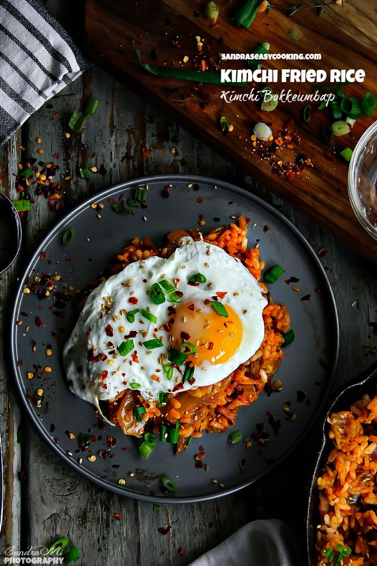 2028 best korean food recipe images on pinterest cooking food simple kimchi bokkeumbap kimchi fried rice with a quick video tutorial forumfinder Image collections